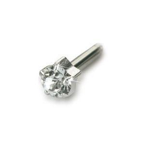 Blomdahl - Srebrny Tytan Medyczny Tiffany 4 mm Crystal