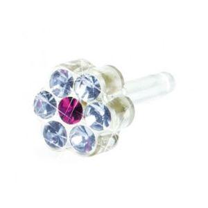 Blomdahl - Dla dzieci tylko to co najlepsze Plastik Medyczny - 0% Niklu DAISY 5 mm Alexandrite/ Rose