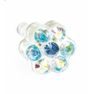 Blomdahl - Dla dzieci tylko to co najlepsze Plastik Medyczny - 0% Niklu DAISY 5 mm Rainbow/ Alexandrite