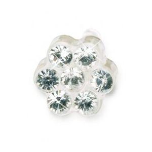 Blomdahl-Dla dzieci tylko to co najlepsze Plastik Medyczny-0% niklu DAISY 5mm Cristal