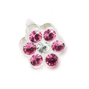 Blomdahl -Dla dzieci tylko to co najlepsze Plastik Medyczny - 0% Niklu DAISY 5mm Rose/ Crystal