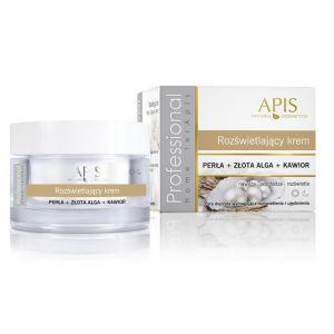 APIS Rozświetlający krem z perłą, złotą algą i kawiorem 50ml