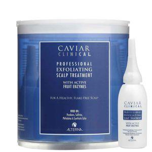ALTERNA Caviar Clinical Professional Exfoliating Scalp Treatment - Intensywna kuracja przeciwłupieżowa w ampułkach 12x15ml