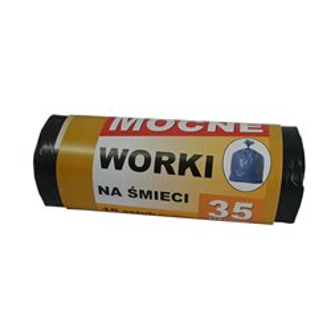 Worki na śmieci MOCNE 35L 50x60cm - 15szt