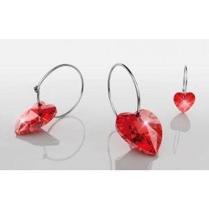 BLOMDAHL Czysty tytan medyczny Heart Ruby 14mm