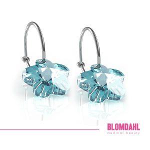 BLOMDAHL Czysty tytan medyczny Flower Aquamarine 14mm