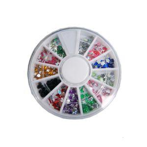 Zestaw kolorowych cyrkonii i kryształków do zdobienia paznokci mix 1