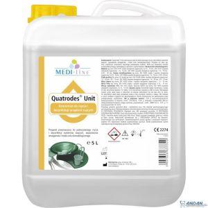 Medi-Line QUATRODES UNIT Koncentrat do mycia i dezynfekcji w stomatologii oraz wanien z hydromasażem 5 L