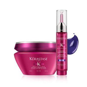 Zestaw Kerastase Chromatique Maska włosy cienkie 200ml + Tusz zimny blond 10ml