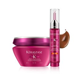 Zestaw Kerastase Chromatique Maska włosy cienkie 200ml + Tusz miedziany 10ml