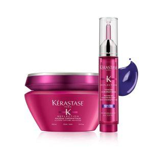 Zestaw Kerastase Chromatique Maska włosy grube 200ml + Tusz zimny blond 10ml