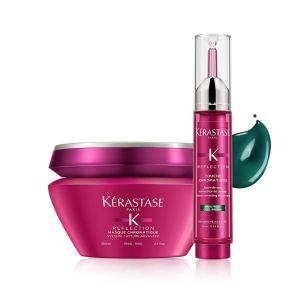 Zestaw Kerastase Chromatique Maska włosy grube 200ml + Tusz zimny brąz 10ml