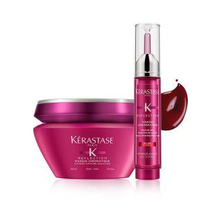 Zestaw Kerastase Chromatique Maska włosy grube 200ml + Tusz czerwony 10ml
