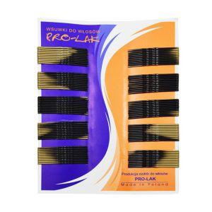 Wsuwki do włosów czarno złote 4 cm 100 szt.