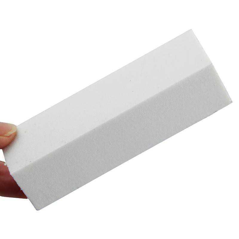 Blok polerski biały czterostronny do paznokci 100/100