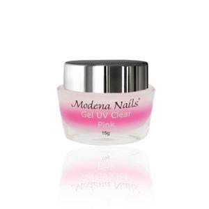 Żel UV Clear Pink - Żel budujący 15g Modena Nails