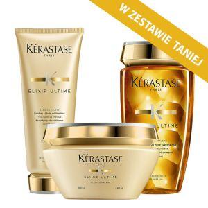 Zestaw do każdego rodzaju włosów Kerastase Elixir Ultime: kąpiel 250ml + maska 200ml + odżywka 200ml