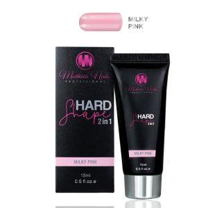 Akrylożel hardshape 2in1 15ml milky pink Modena Nails akryl żel w tubce mleczny różowy