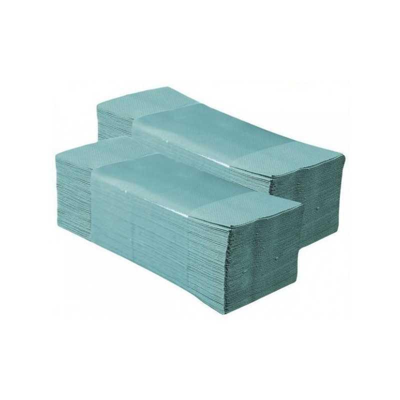 Ręcznik składany ZZ zielony KARTON 20op.