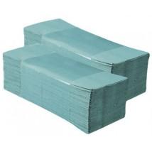 Ręczniki składane ZZ zielone makulaturowe KARTON 20op.