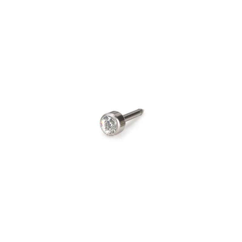 Blomdahl - Naturalny Tytan Medyczny Bezel 4 mm Crystal