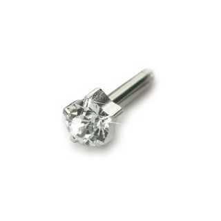 Kolczyk do przekłuwaniu uszu srebrny tytan medyczny tiffany 4 mm crystal 1szt Blomdahl kolczyki