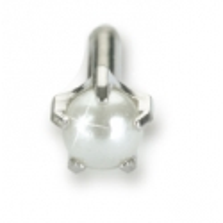 Kolczyk do przekłuwania uszu srebrny tytan medyczny tiffany 4 mm pearl 1szt Blomdahl kolczyki