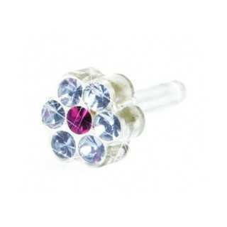 Kolczyk do przekłuwania uszu DAISY 5 mm Alexandrite/ Rose 1szt Blomdahl kolczyki