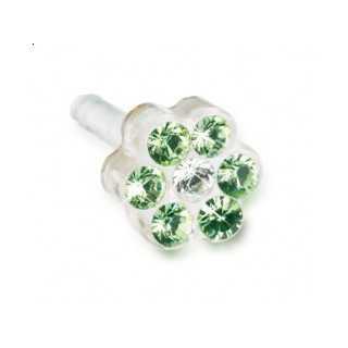 Kolczyk do przekłuwania uszu DAISY 5mm Peridot/ Crystal 1szt Blomdahl