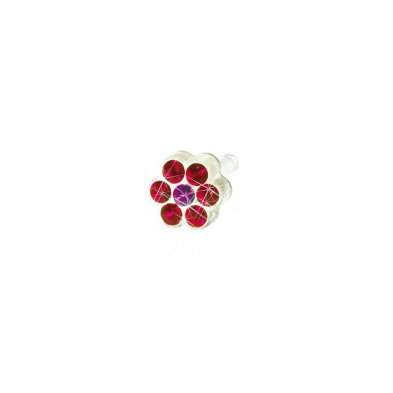 Blomdahl - Dla dzieci tylko to co najlepsze Plastik Medyczny - 0% Niklu DAISY 5mm Ruby/ Rose