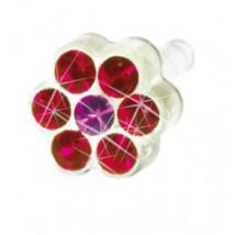 Kolczyk do przekłuwania uszu DAISY 5mm Ruby/ Rose 1szt Blomdahl kolczyki