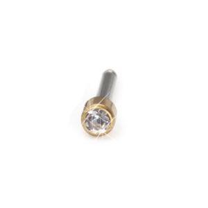 Blomdahl - Mini Bezel 3mm Crystal - złoty tytan medyczny