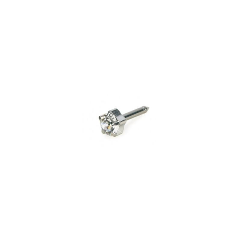 Blomdahl - Naturalny Tytan Medyczny Tiffany 5 mm Crystal