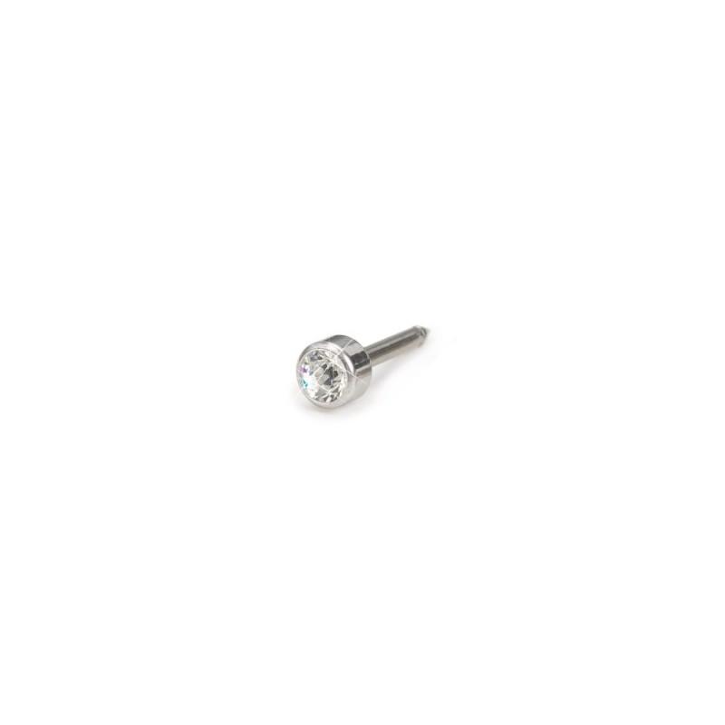 Blomdahl - Srebrny Tytan Medyczny Bezel 4mm Crystal
