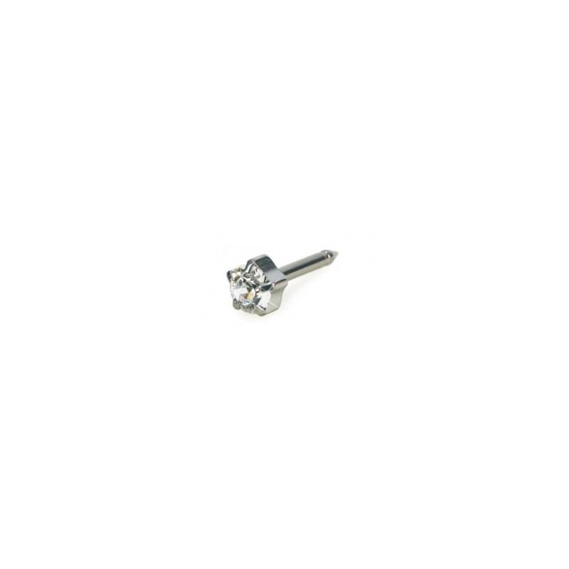 Blomdahl - Srebrny Tytan Medyczny Tiffany 5 mm Crystal