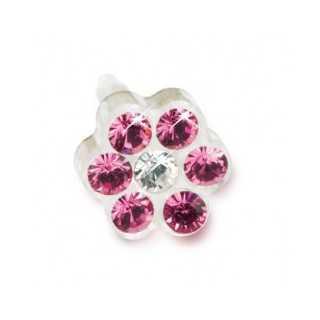 Kolczyk do przekłuwania uszu daisy 5mm Rose/ Crystal 1szt Blomdahl kolczyki