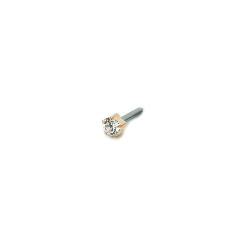 Blomdahl -Tiffany 4 mm Crystal - złoty tytan medyczny