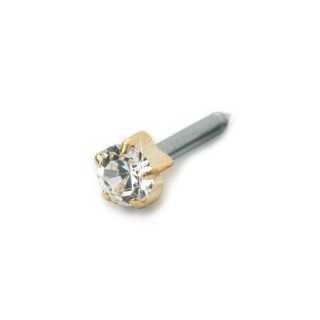 Kolczyk do przekłuwania uszu tiffany 4 mm crystal złoty 1 szt Blomdahl