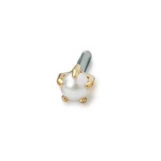 Kolczyk do przekłuwania uszu tiffany 4 mm pearl złoty tytan medyczny 1 szt Blomdahl kolczyki