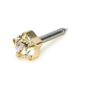 Blomdahl -Tiffany 5 mm Crystal - złoty tytan medyczny