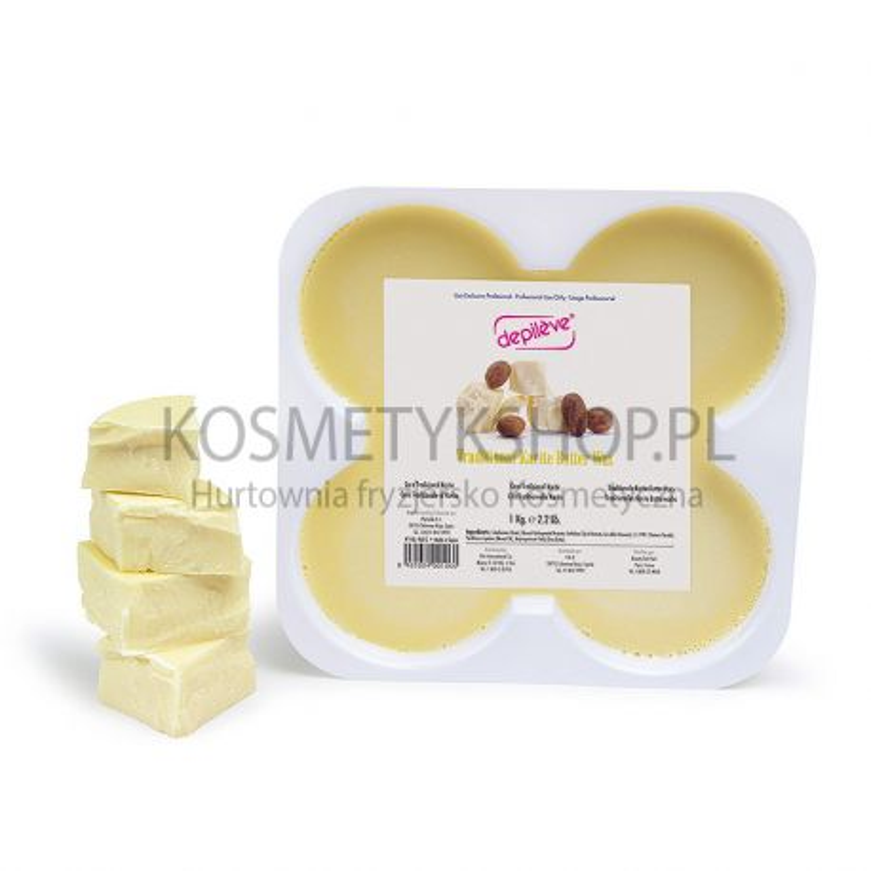 Wosk do depilacji masło karite 1kg tradycyjny twardy Depileve