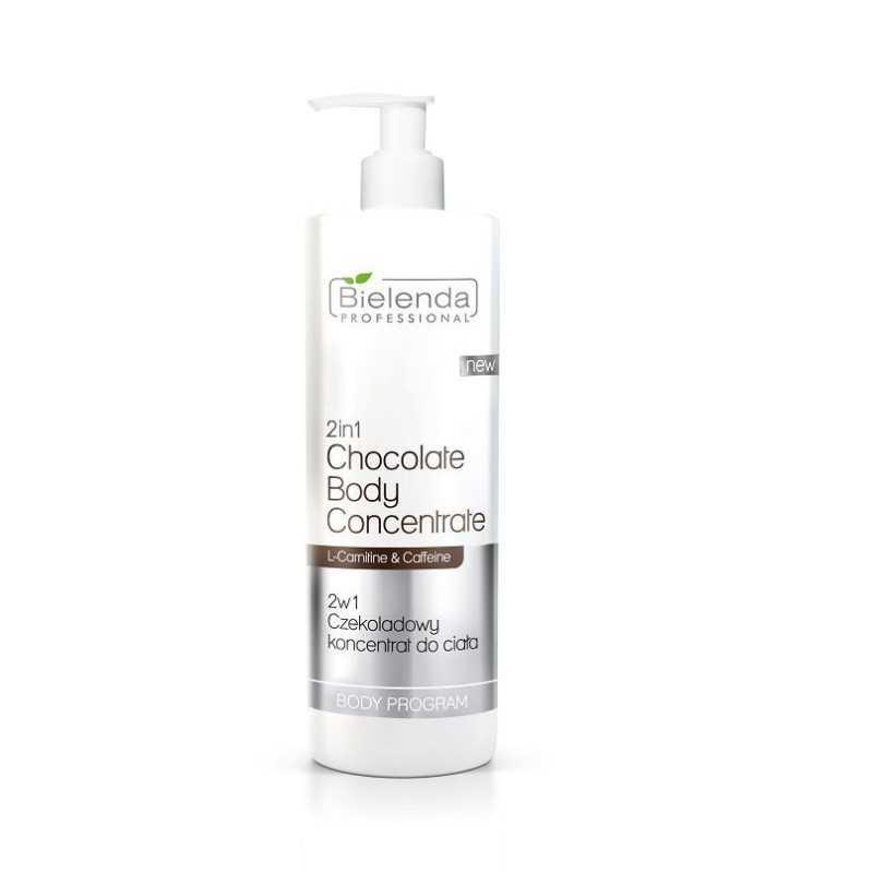 BIELENDA Koncentrat 2 w 1 czekoladowy do ciała z l-karnityną 450ml