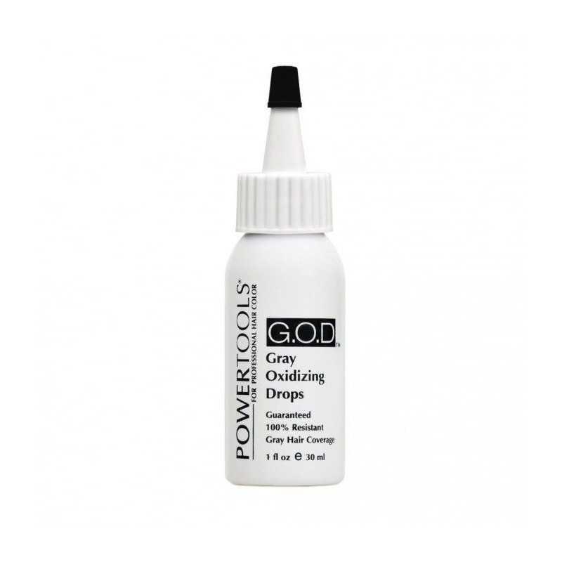 POWERTOOLS G.O.D. Gray Oxidizing Drops - krople wspomagające pokrycie siwych włosów 30ml