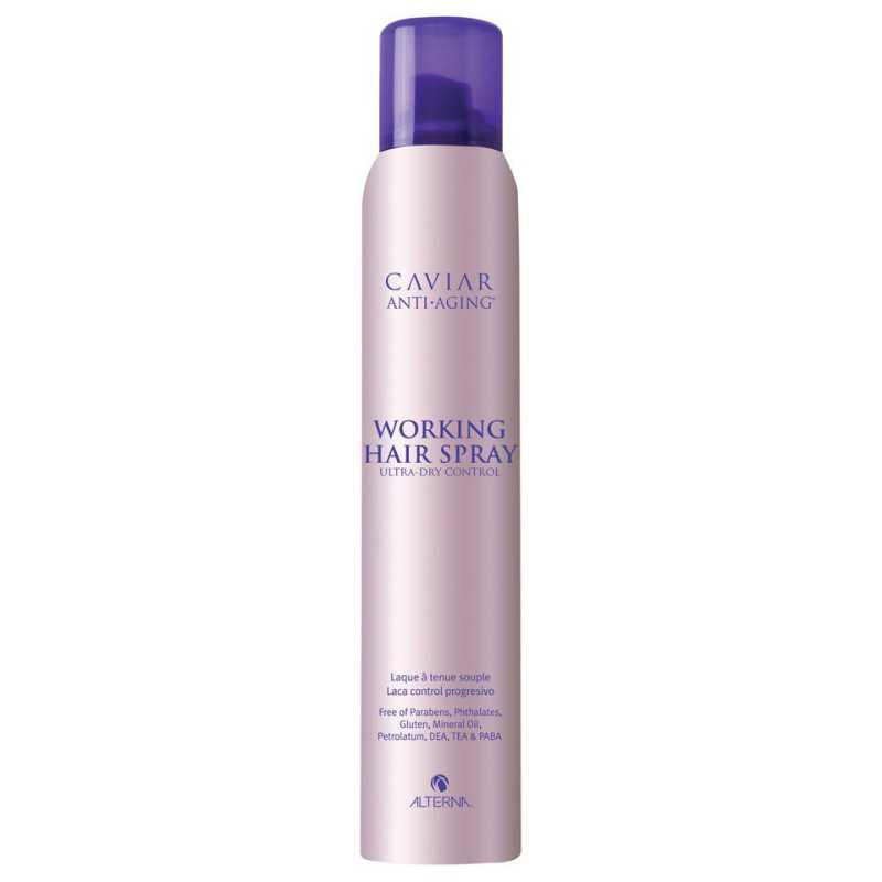ALTERNA Caviar Working Hairspray - Odporny na wilgoć suchy lakier, zapewniający elastyczną, pełna blasku fryzurę 250ml