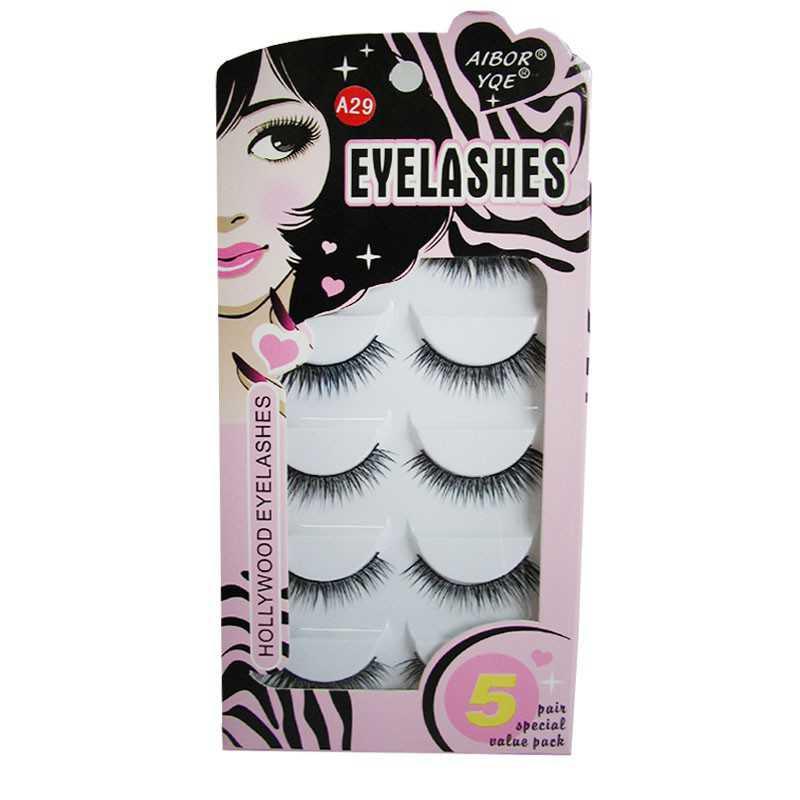 Eyelashes - Rzęsy sztuczne na pasku - 5 par