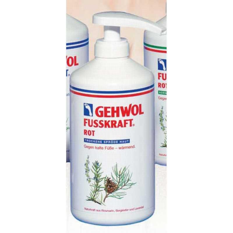 Balsam do stóp zimnych i suchych rozgrzewający natłuszczający 500 ml Gehwol fusskraft rot