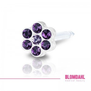 Blomdahl, Daisy Amethyst/ Light Amethyst 5 mm