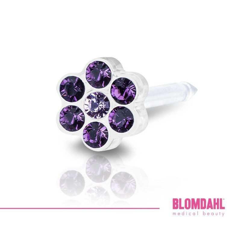 Blomdahl, Daisy Amethyst/ Light Amethyst 5 mm