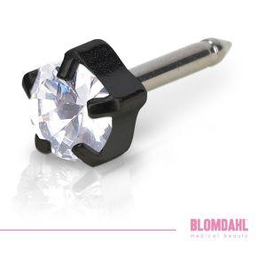 BLOMDAHL Czarny Tytan Medyczny - Tiffany Crystal 5 mm