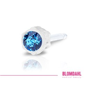 Kolczyk do przekłuwania uszu sapphire 4 mm 1 szt Blomdahl kolczyki